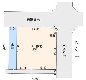 栄 売土地 平面図