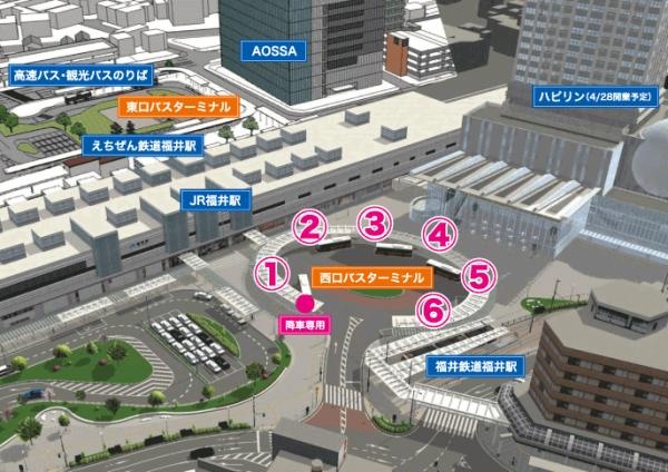 福井駅 西口